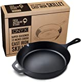 Fresh Australian Kitchen Super Pre-Seasoned Polished 12 Inch (30cm) Cast Iron Skillet. Perfect Pan for Frying, Camping…