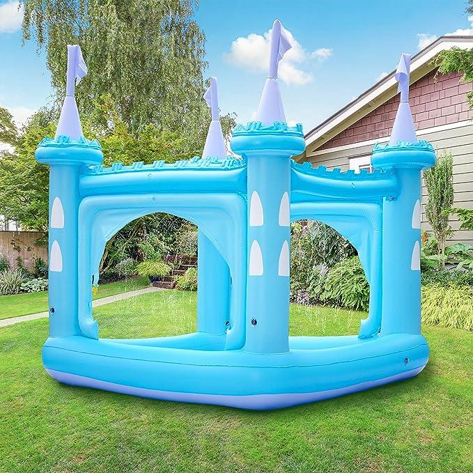 Teamson Kids Piscina Inflable/Pelopincho Castillo Azul para Niños TK-48271B-UK/EU