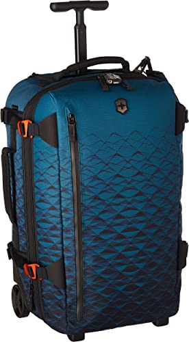 Victorinox VX Touring 2-in-1 Softside Upright Luggage, Dark Teal, Carry-On, Frequent Flyer 22.4
