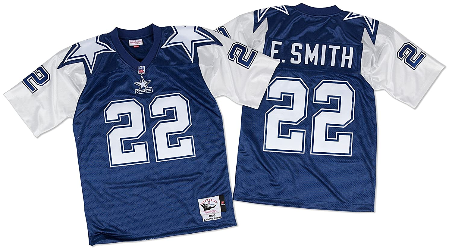 buy online 3b360 74a42 Emmitt Smith Dallas Cowboys Mitchell & Ness Authentic 1995 Blue NFL Jersey