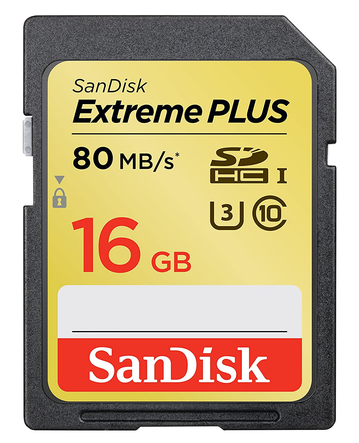 SanDisk Extreme Plus 16GB UHS-1/U3 SDHC Memory Card Up To 80MB/s- SDSDXS-016G-X46 (Label May Change)
