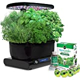 AeroGarden Harvest (LCD Control Panel) with Gourmet Herb Seed Pod Kit, Black
