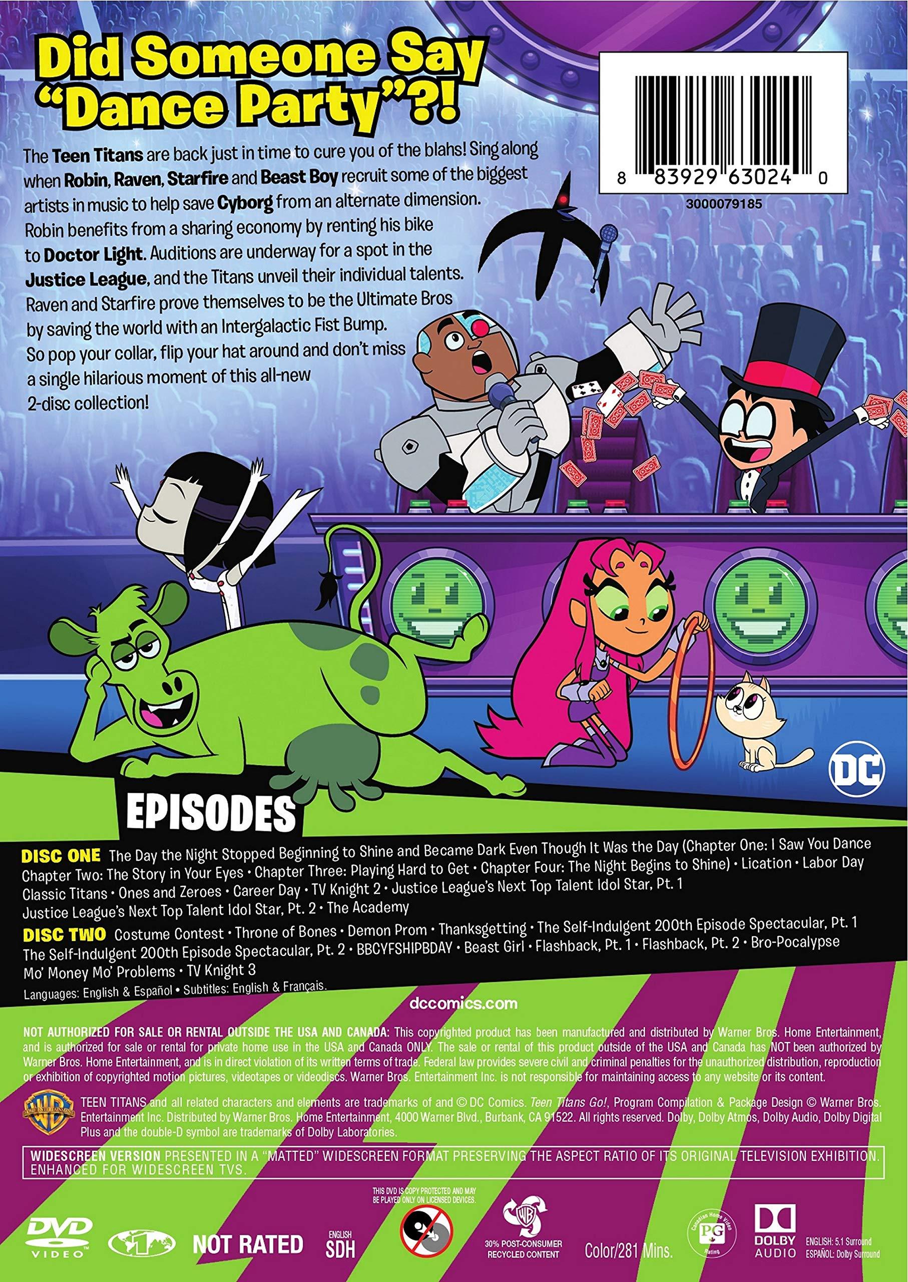 DVD : Teen Titans Go!: Season 4 - Part 2 (Amaray Case, 2 Pack)