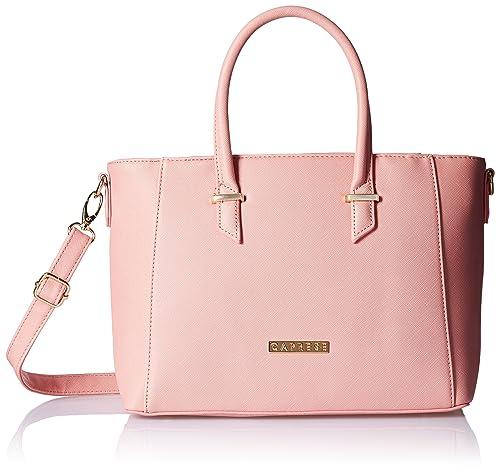 Caprese Porsche Women s Tote Bag (Blush)  Amazon.in  Shoes   Handbags 7ddb2677bb5f9