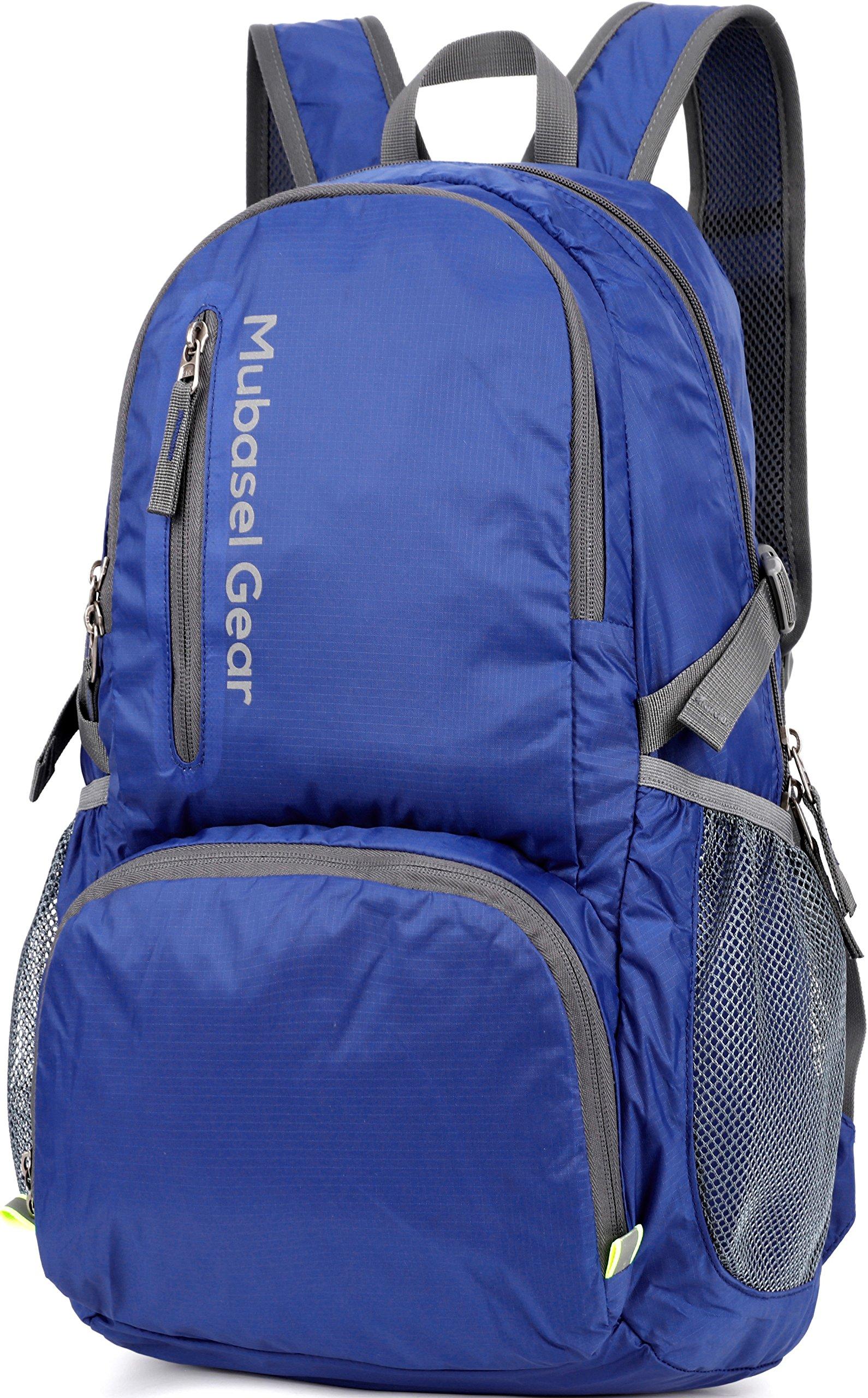 Mubasel Gear Backpack - Lightweight Backpacks for Travel Hiking - Daypack for Women Men (Blue)