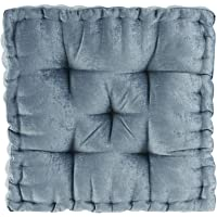 Deals on Intelligent Design Azza Floor Pillow Square Pouf Chenille 20x20
