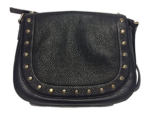 9b76ca79380a Michael Kors Hamilton Traveler Studded Large Messenger Black Leather:  Amazon.ca: Shoes & Handbags