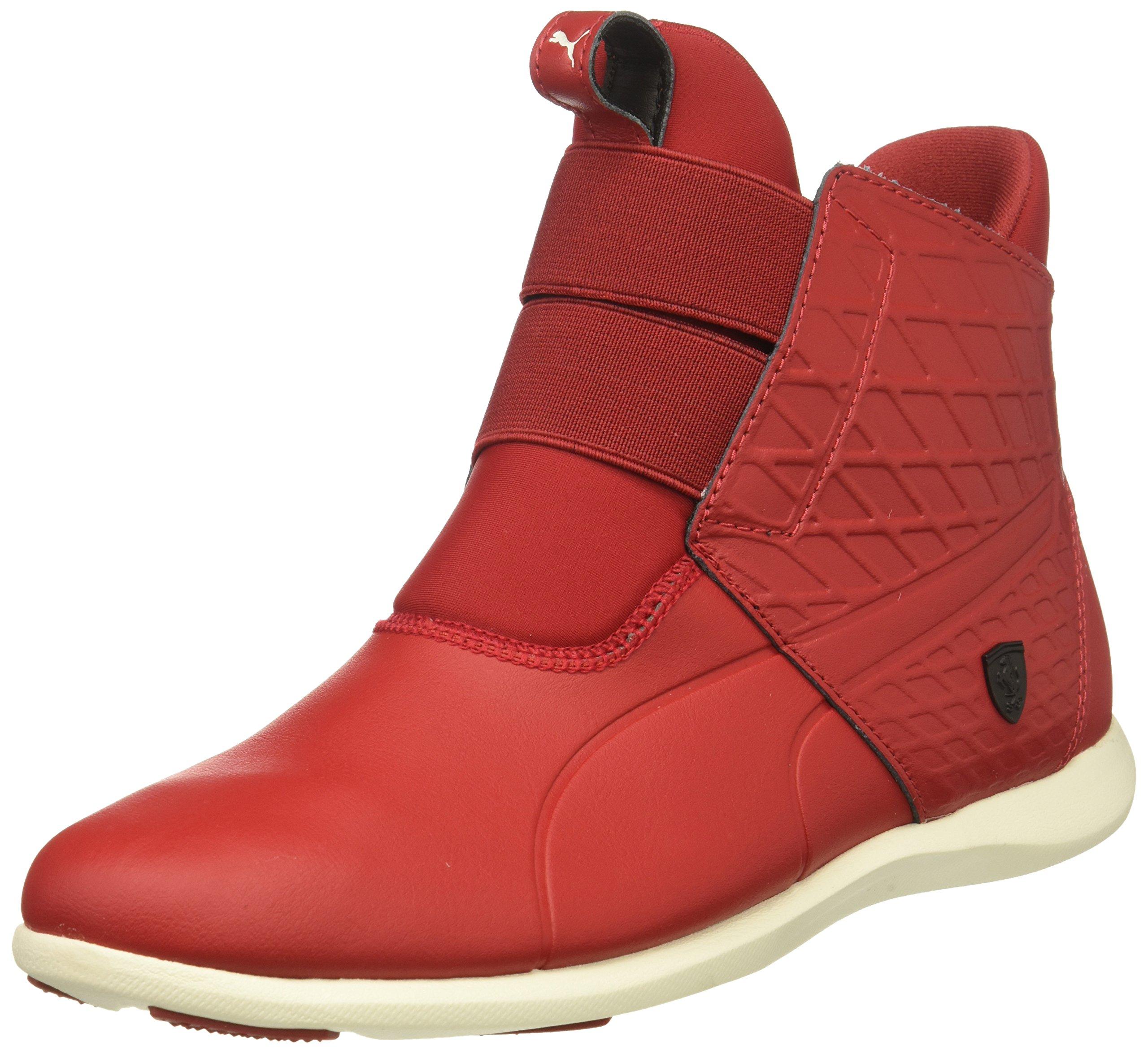 PUMA Women's SF Ankle Boot Sneaker, Chili Pepper-Chili Pepper-Whisper White, 9 M US