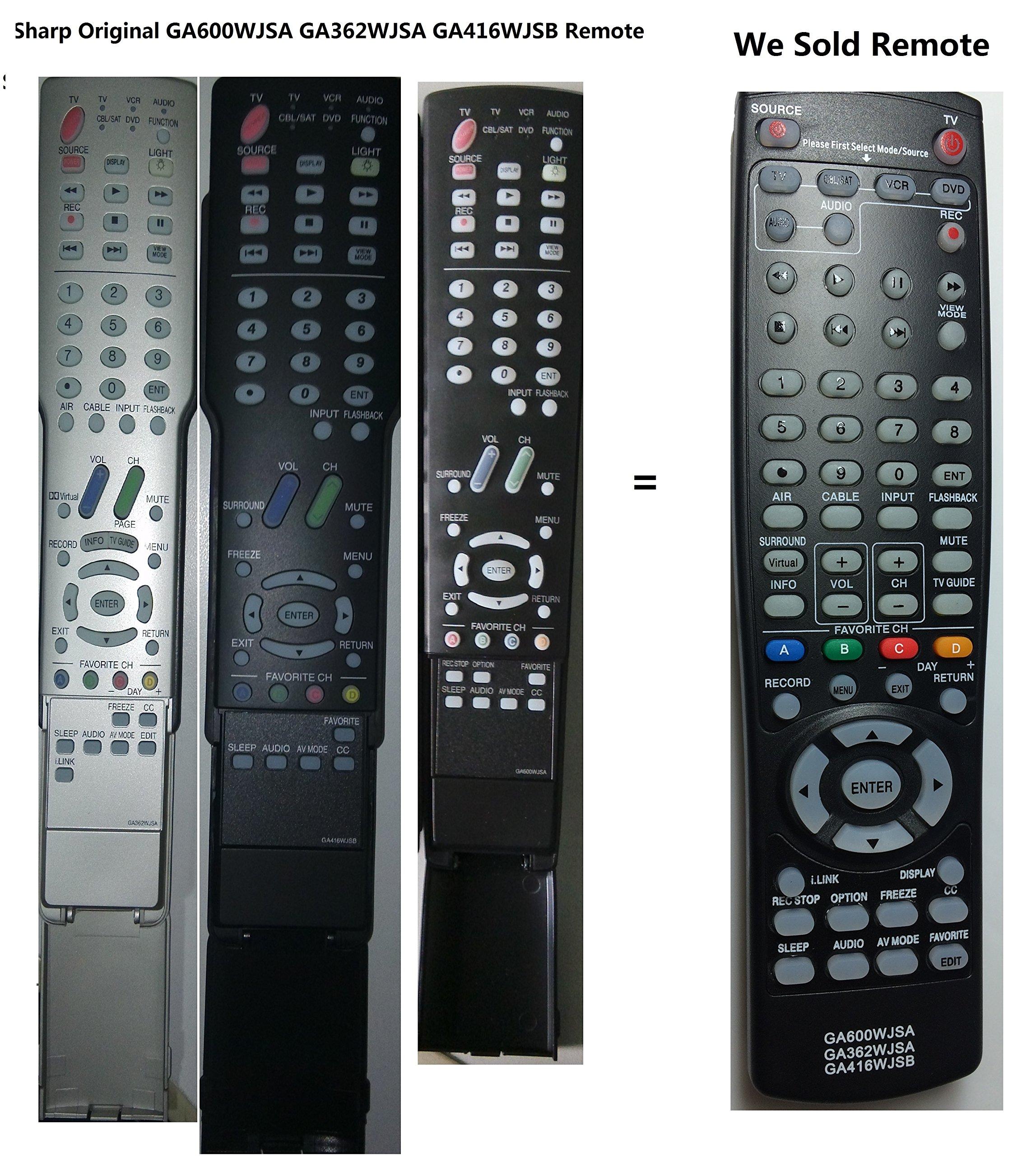 Control Remoto Sharp Ga600wjsa Ga362wjsa Ga416wjsb Aquos ...