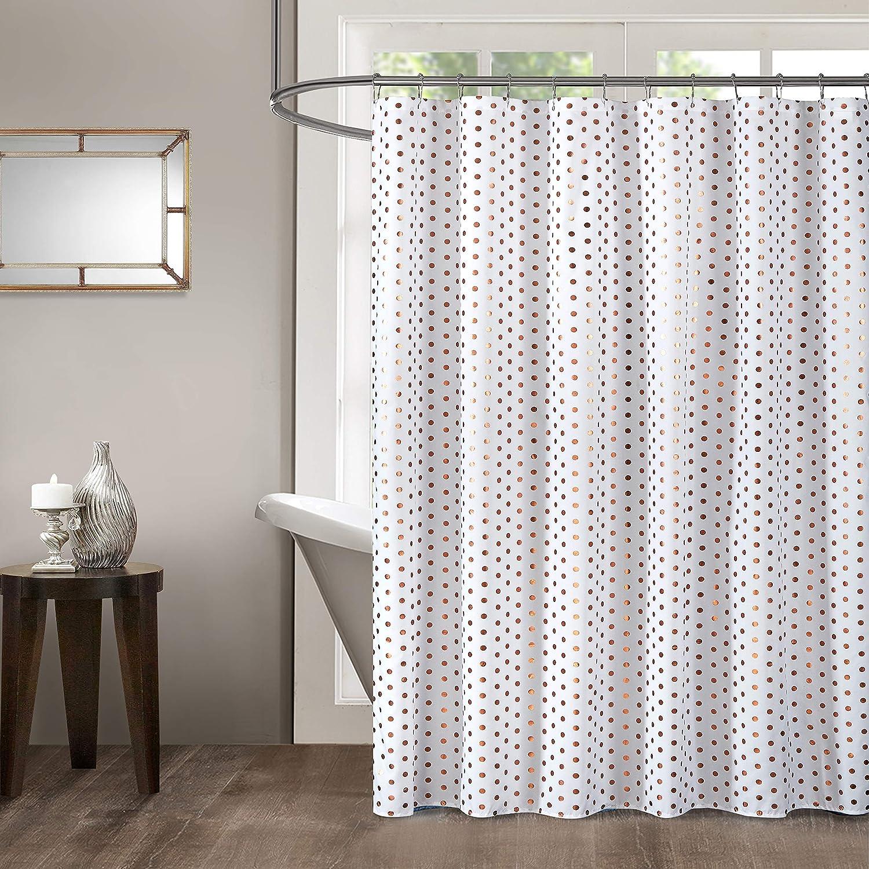 Rose Gold Idea Nouva Metallic Polka Dot Shower Curtain 70X72