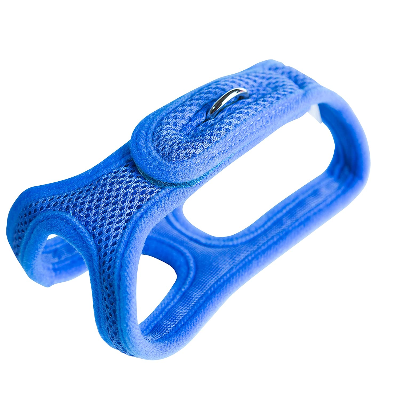 bluee 14\ bluee 14\ ChokeFree Velpro Mesh Pet Shoulder Harness Collar, 14-Inch, bluee