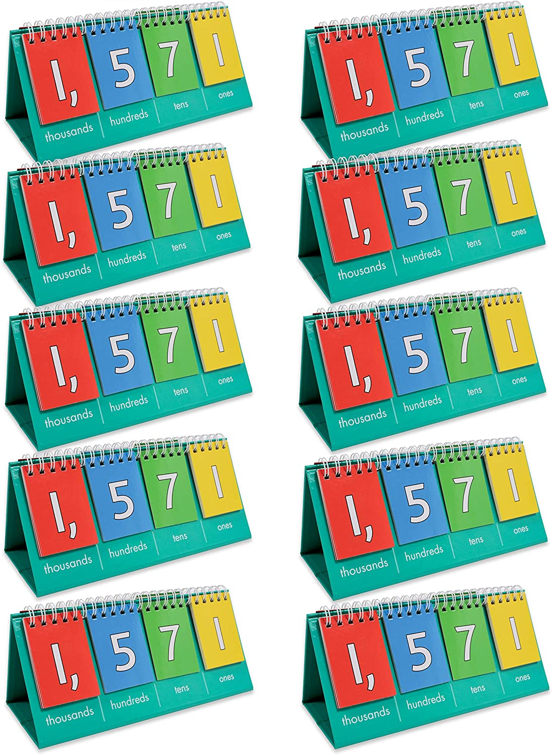 Edx Education Student Place Value Flip Chart - Thousands - Learn to Count by Ones, Tens, Hundreds and Thousands: Office Products