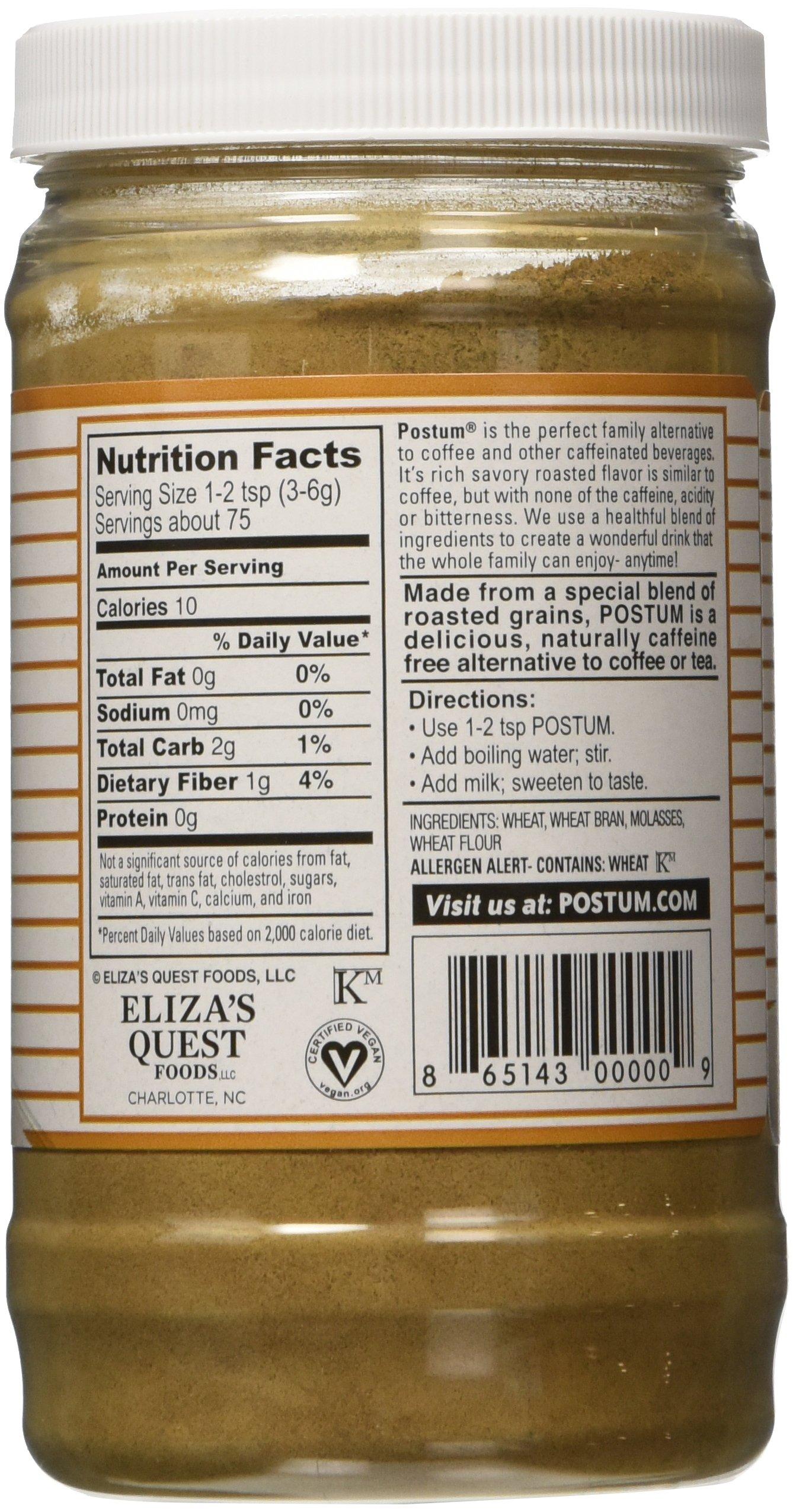 Postum 8 Oz. Roasted Wheat-Bran & Molasses Instant Warm Beverage, Pack of 12 by Postum (Image #4)