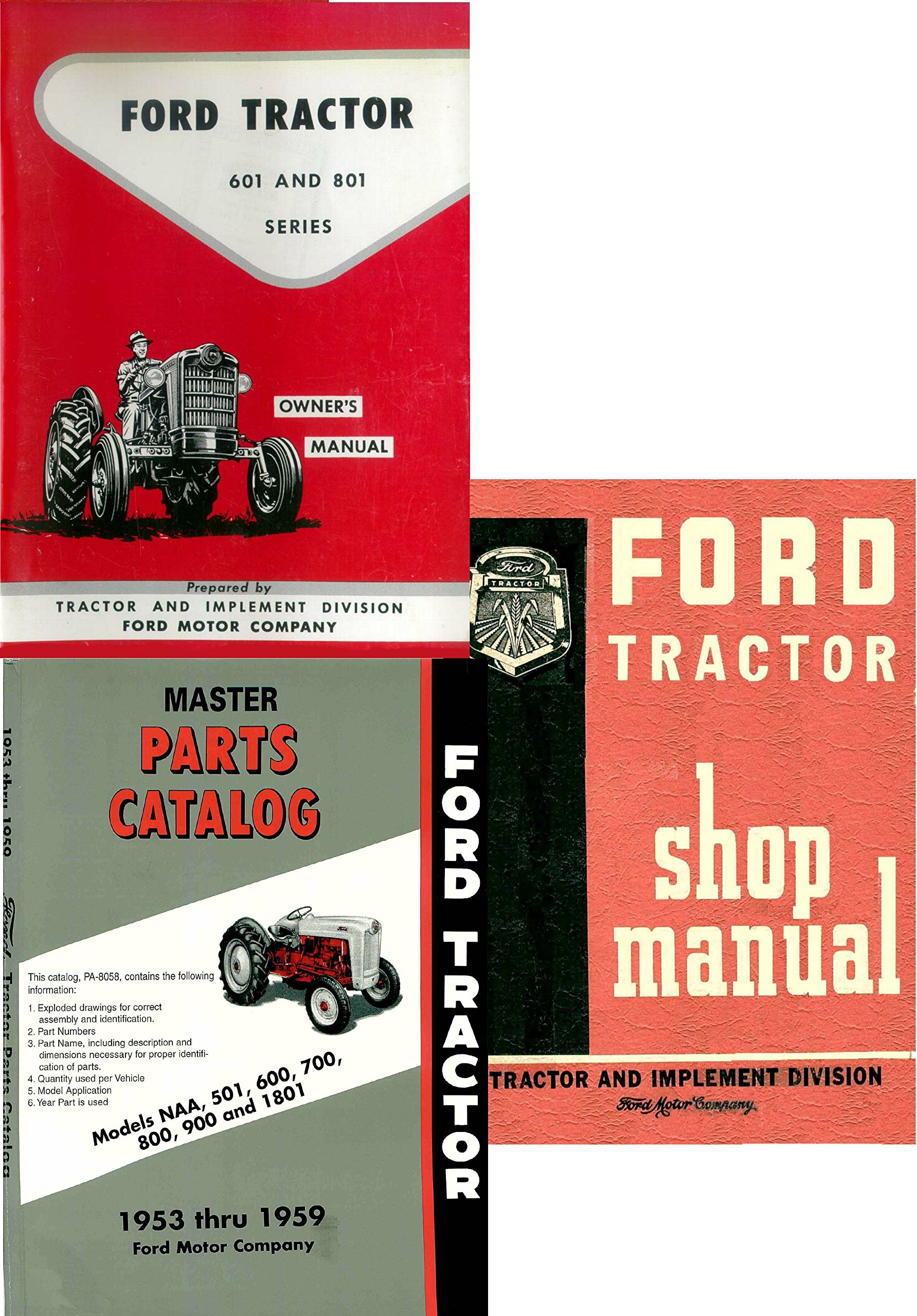 Ford 601/801 Series Tractor 3 Manual Reprint Set Paperback: FORD,  A1TractorManuals: 0763616420197: Amazon.com: Books