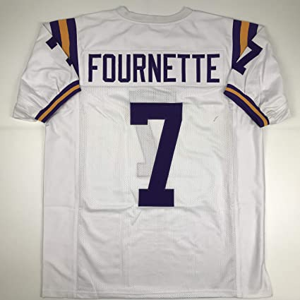 finest selection 44672 f705d Amazon.com: Unsigned Leonard Fournette LSU White Custom ...