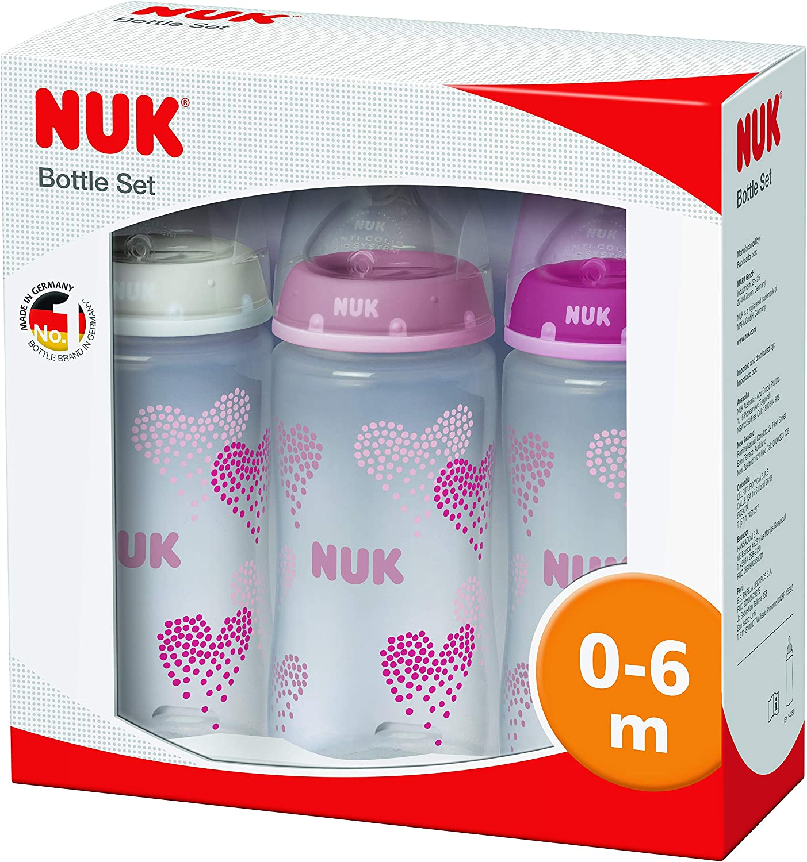 avec t/étines en silicone NUK First Choice Plus /Édition limit/ée Lot de 3 biberons en silicone 300 ml 0-6 mois