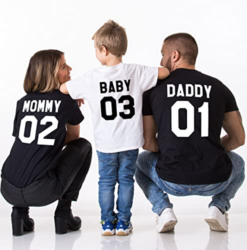 Amazon com: Daddy 01 Mommy 02 Baby 03 Family Shirts: Handmade