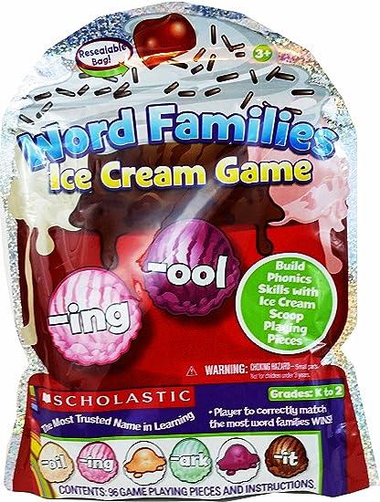 amazon com scholastic word families ice cream game grades k to 2