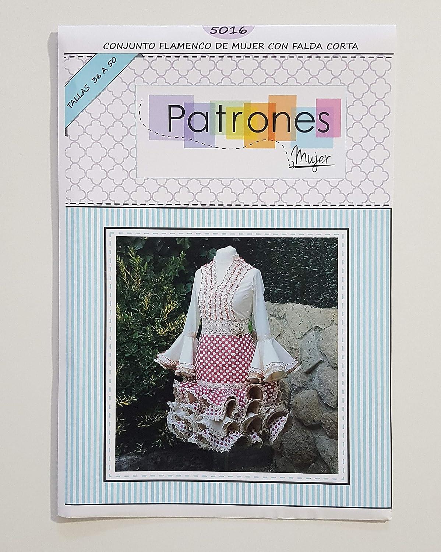 Patr/ón de costura vestido flamenca Nejas mujer entallado para hacerlo t/ú misma Talla 36 a la 52 Tutorial en v/ídeo para ayudarte a realizarlo Patr/ón multitalla en papel.