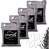 Mundo Bamboo Charcoal Air Purifying Bag - 4 PACK(4 x 200g) – Powerful Activated Charcoal Bags Odor Absorber to Naturally Fres