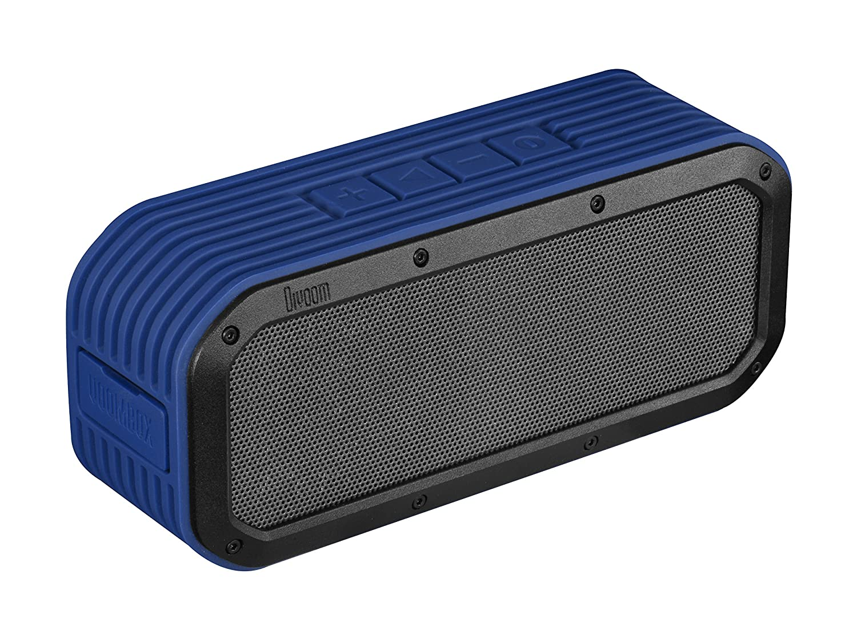 Divoom Voombox Outdoor, portabler Bluetooth Lautsprecher, spritzwasser- und staubgeschü tzt mit 15 Watt, NFC, Telefonfunktion - Blau Voombox-Outdoor Blue