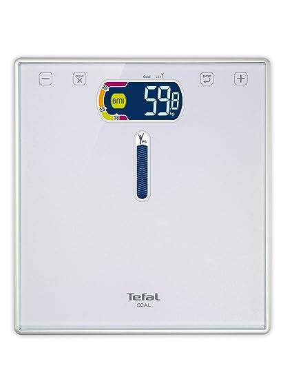 Tefal Goal - Báscula de baño, índice de masa corporal, 4 memorias, hasta