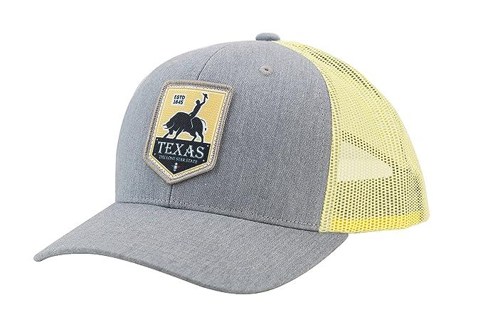 bde6436705852 Camoris Men s Texas Rodeo Logo Baseball Cap Trucker Hat (Chrome Yellow Grey)