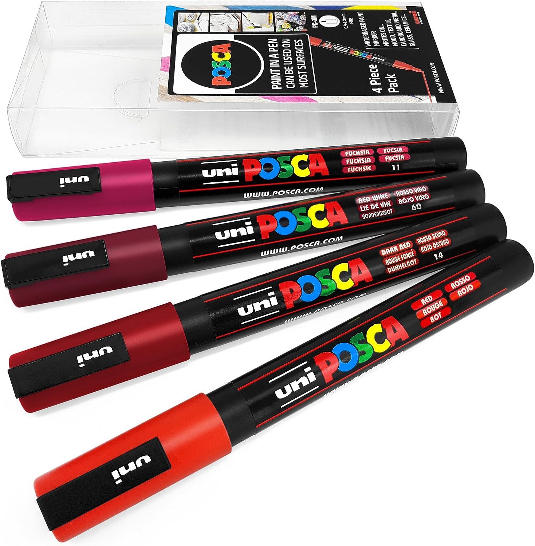 Green Tones 4 Pack Wallet Uni POSCA PC-3M Art Marker Paint Pens
