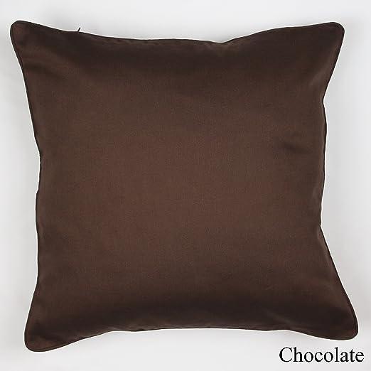 Lujoso cojín con funda 100 % algodón, chocolate, 45 x 45 cm ...