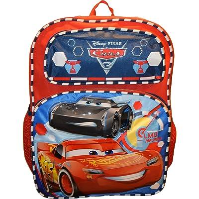 "Disney Pixar Cars 3 Boys 16"" School Backpack -LMQ Top Speed Lightning Mcqueen: Toys & Games"