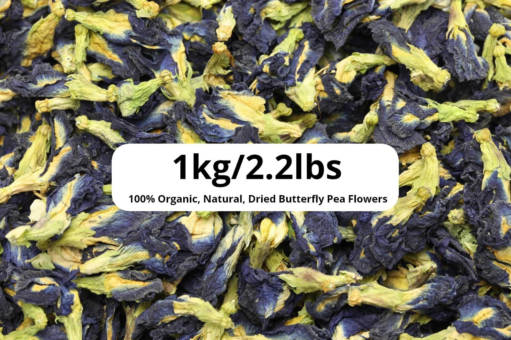 1kg/2.2lb Dried Butterfly Pea Flowers – Wholesale