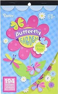 Darice 106-3712 Darice, 194 Piece, Butterfly Garden Theme Sticker Book,,