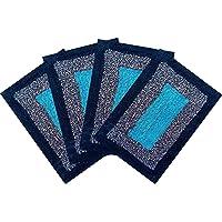 SHF Door Mats 100% Cotton for Home Set of 4 Piece 40x60 cm Multicolor