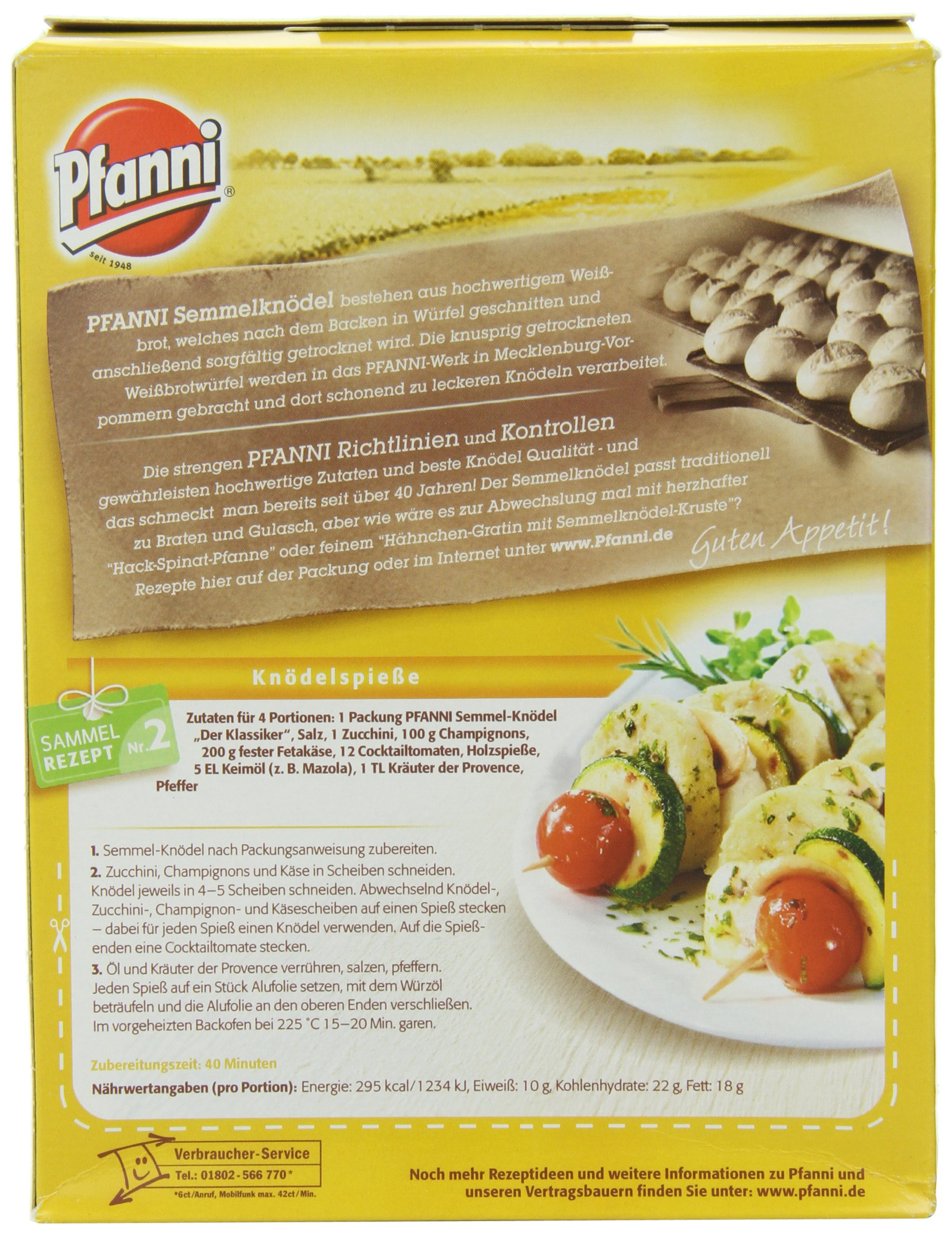 Pfanni Semmel Knodel (Bread Dumpling), 7-Ounce Boxes (Pack of 7)