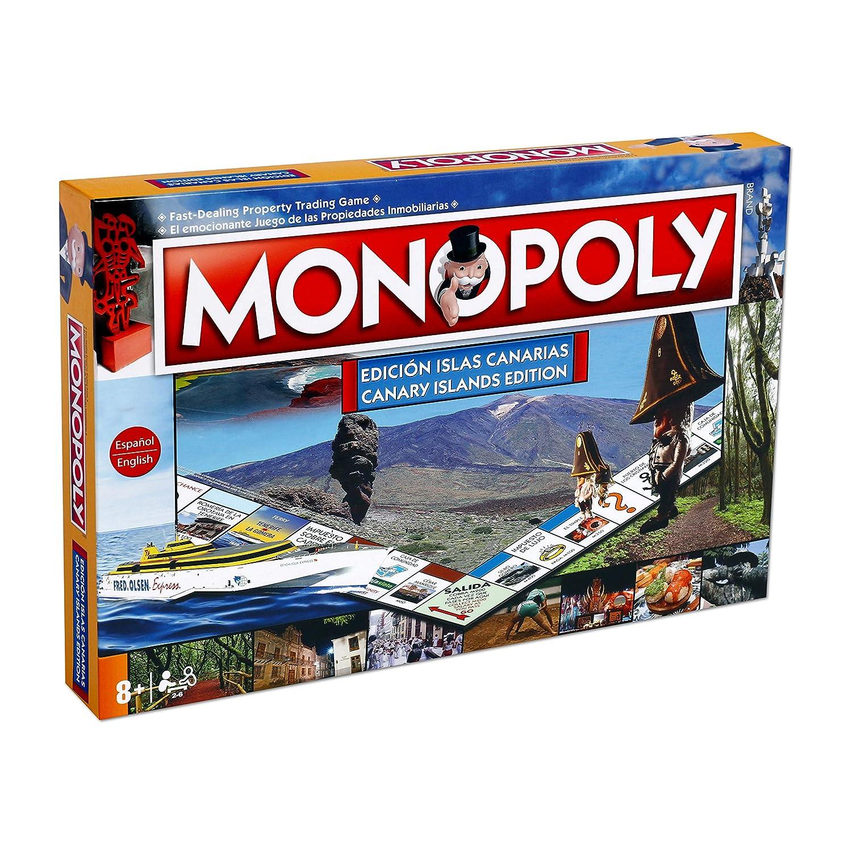 Monopoly Islas Canarias. Juego de Mesa- Versión bilingüe en castellano e inglés