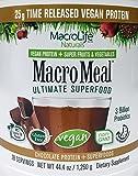 Macro Life Naturals Meal Vegan Chocolate, 2.8 Pound