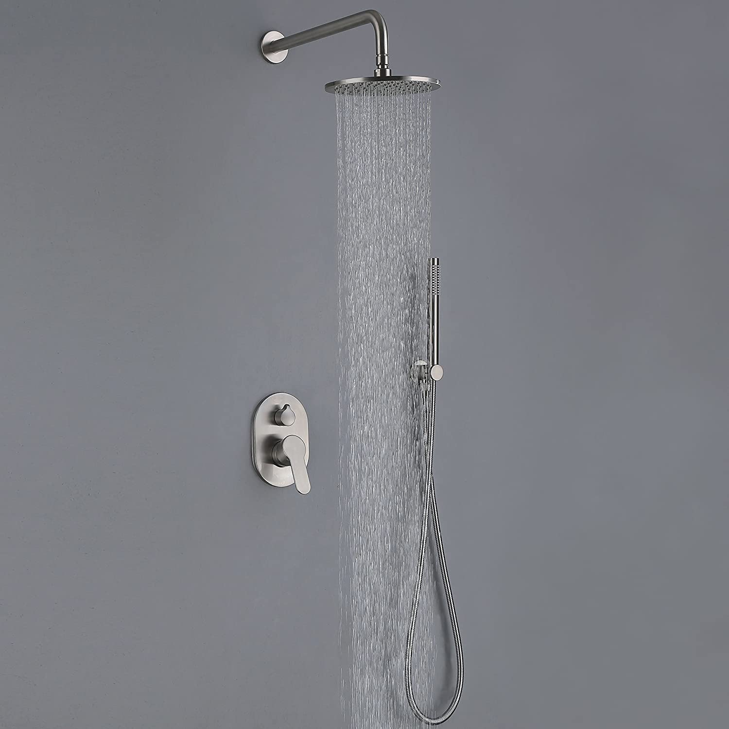 Shower Equipment Wall Mounted Rainfall 8 Shower Panel Dual Handle Bathroom Shower Faucet System With Handheld Shower Back To Search Resultshome Improvement