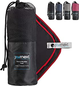 Journext Microfiber Towel for Beach, Travel, Hiking, Camping, Fitness, Backpacking, Ultra-Light, Anti-Bacterial, Quick Dry, S/M/L