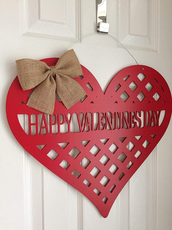 Heart Door Decor Happy Valentines Day Door Hanger Valentines Day Door Decor Valentine Door Wreath Happy Valentines Day Door Sign