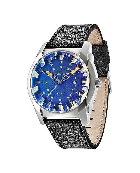 Police 14253JS/61 - Reloj, correa de cuero color negro