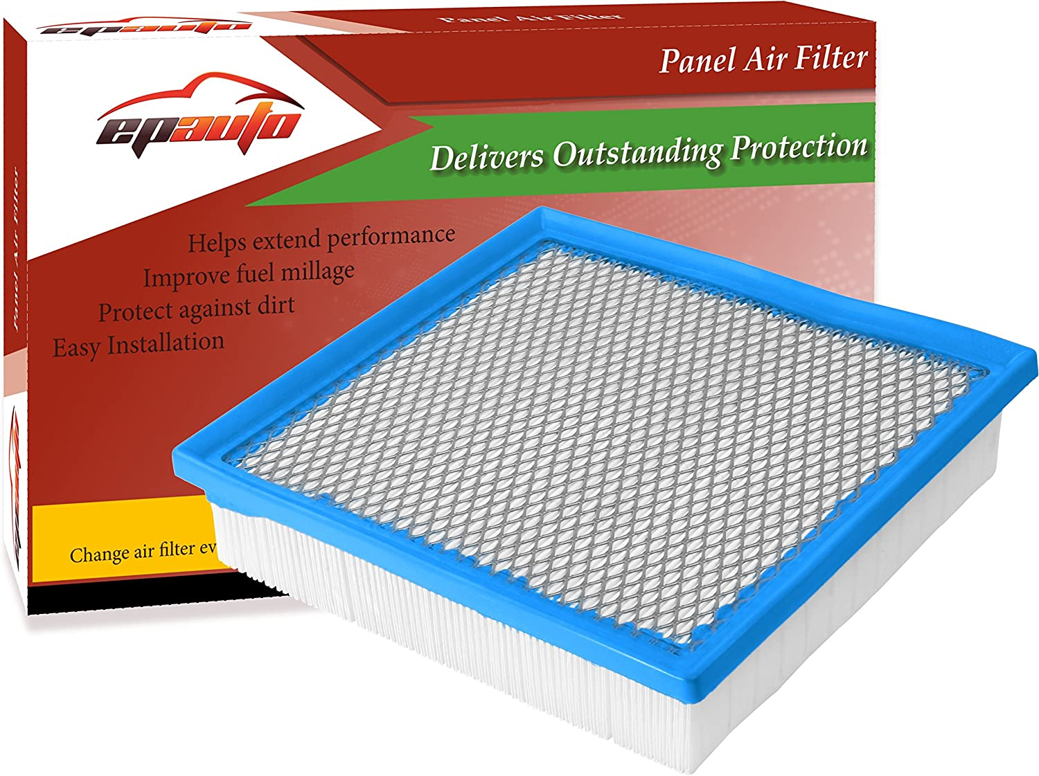 2011-2018 EPAuto GP075 CA10755 2012-2017 2014-2018 Highlander Gas Replacement for Toyota//Lexus Panel Engine Air Filter for Avalon V6 2013-2018 2013-2018 Camry V6 ES350 Sienna