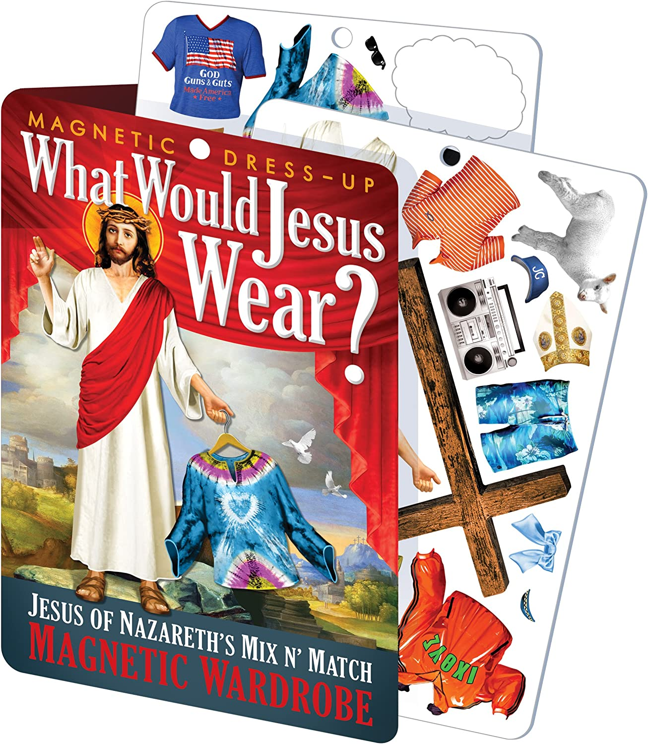What Would Jesus Wear - Jesus Magnetic Dress Up Doll Play Set