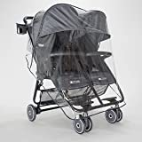 ZOE XL2 Lightweight Double Stroller Tailored Raincover