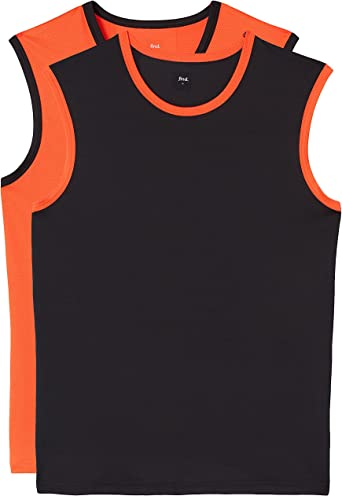 Marca Amazon - find. Camiseta sin Mangas Combinada para Hombre, Pack de 2: Amazon.es: Ropa y accesorios