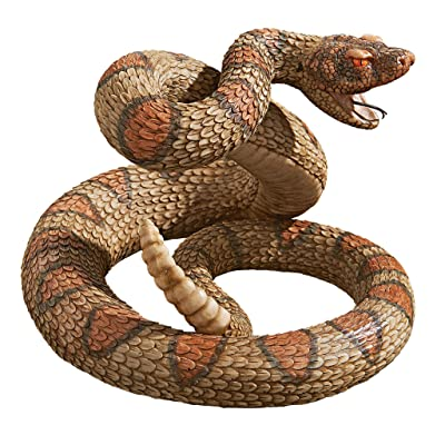Design Toscano Western Diamond Back Rattlesnake Garden Animal Statue, 13 Inch, Polyresin, Full Color: Home & Kitchen