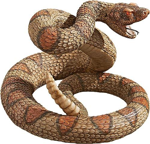 Design Toscano Western Diamond Back Rattlesnake Garden Animal Statue