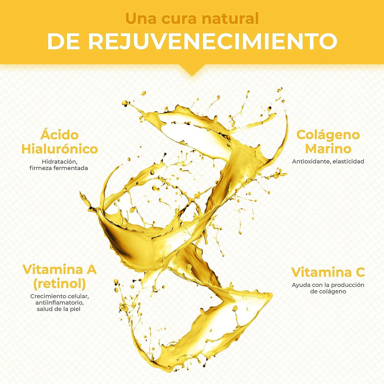Colageno, Acido Hialuronico Capsulas, Vitamina A, Piel Huesos Articulaciones, Antiedad Reduce Arrugas Líneas de Expresión Hidratación, Reforzar ...