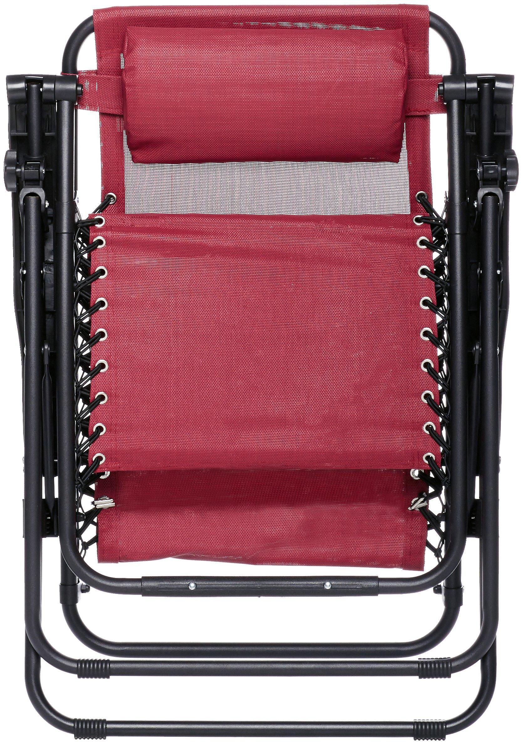 CDM product AmazonBasics Zero Gravity Chair - Burgundy small thumbnail image