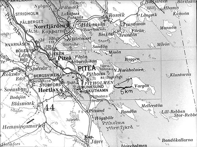 svensbyn karta Amazon.com: Vintage photo of Map of the northern Swedish town of  svensbyn karta