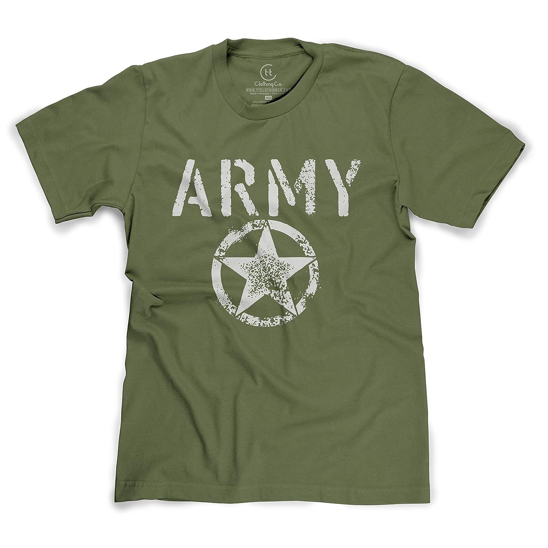United States Army Distressed Star Shield Logo T-Shirt
